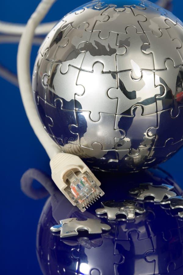 Concept globale mededeling royalty-vrije stock afbeelding