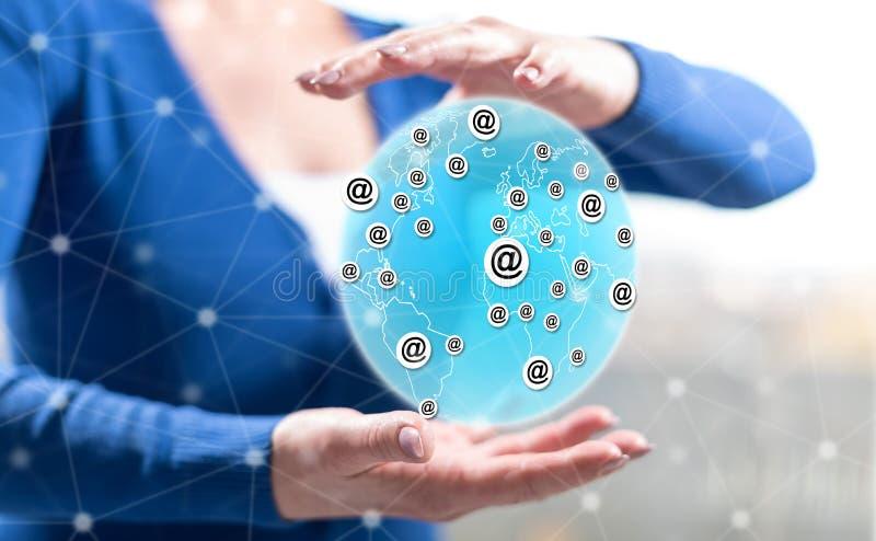 Concept globale mededeling royalty-vrije stock afbeeldingen