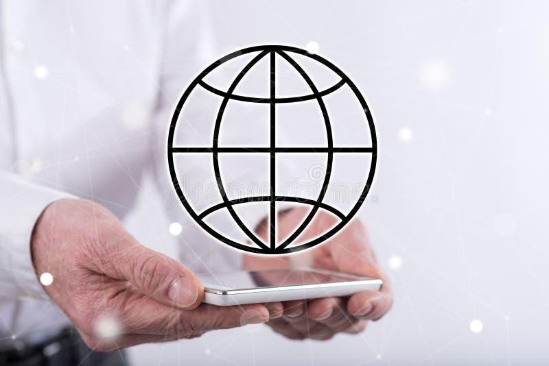 Concept globale zaken stock foto's