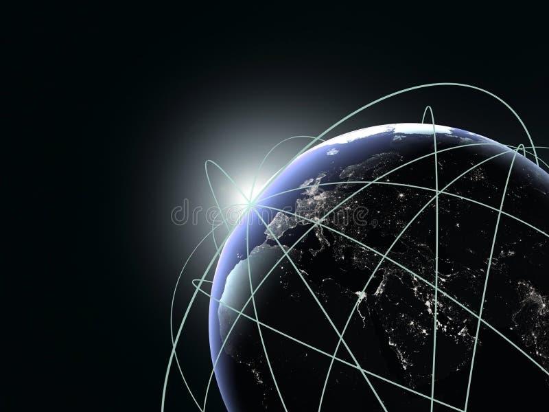 Concept globale zaken. Beste Internet op planeet royalty-vrije illustratie