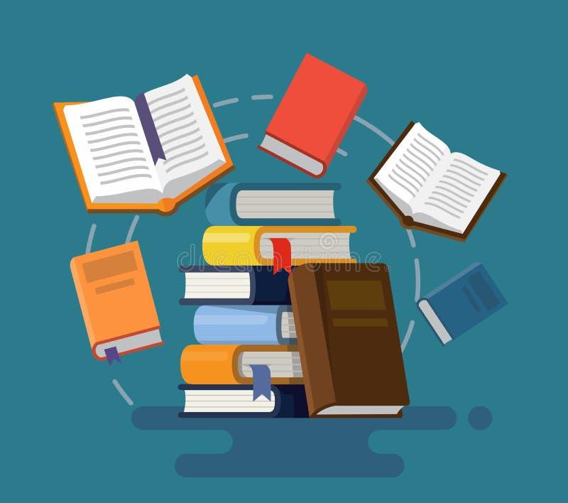 Concept of graduation. Books. royalty free illustration
