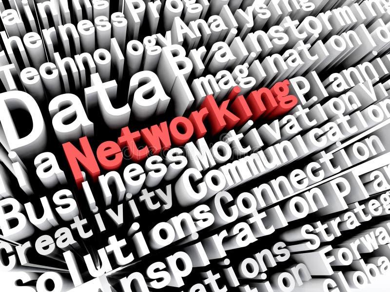 Concept grafisch die het afschilderen zaken en voorzien van een netwerk in rood worden geschreven vector illustratie