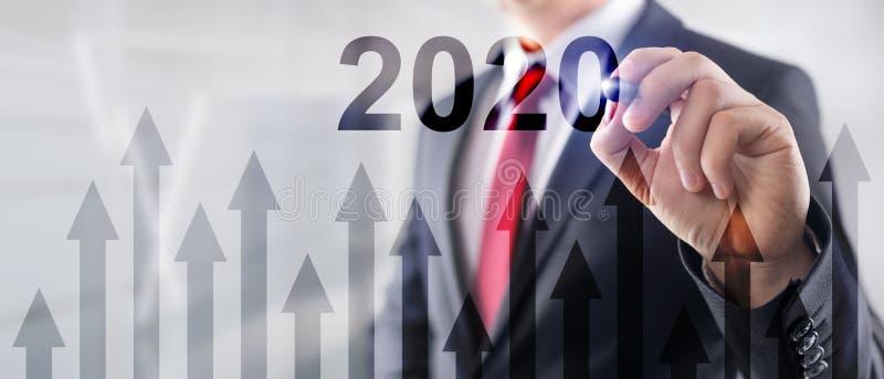 2020 concept. Graph of economics growth. Corpotare concept stock images