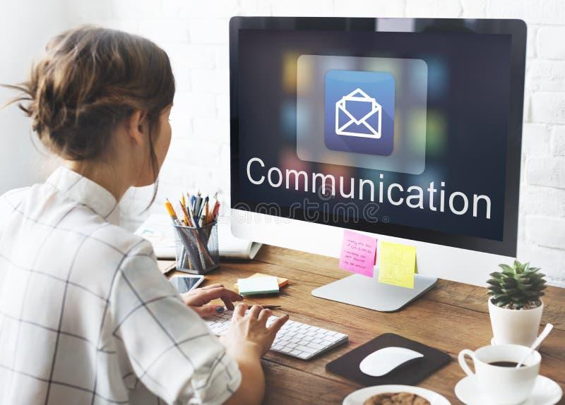 Concept graphique électronique de Digital de données de message électronique photos stock