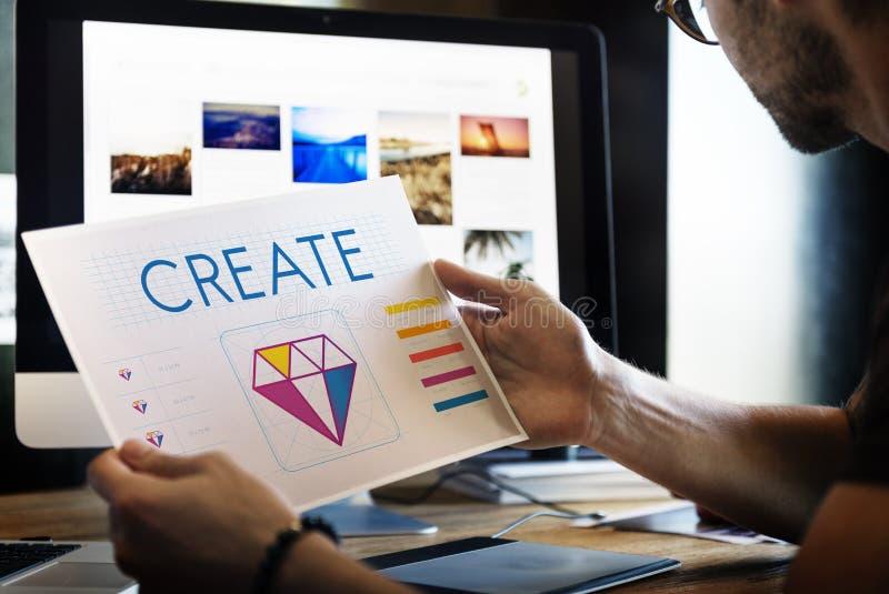 Concept graphique d'illustration d'idées de créativité de style de conception photographie stock libre de droits