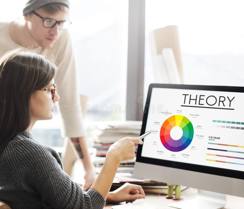 Concept graphique de modèle de couleurs de diagramme de théorie images stock