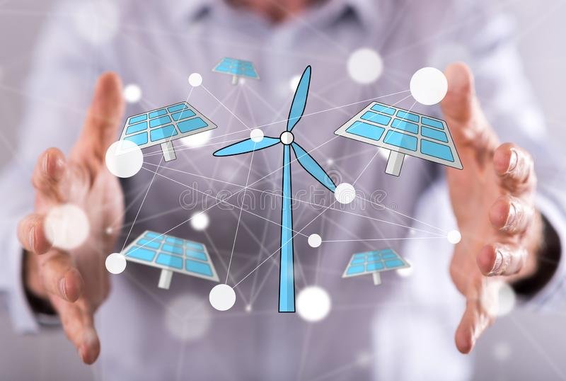 Concept of green energy royalty free stock photo