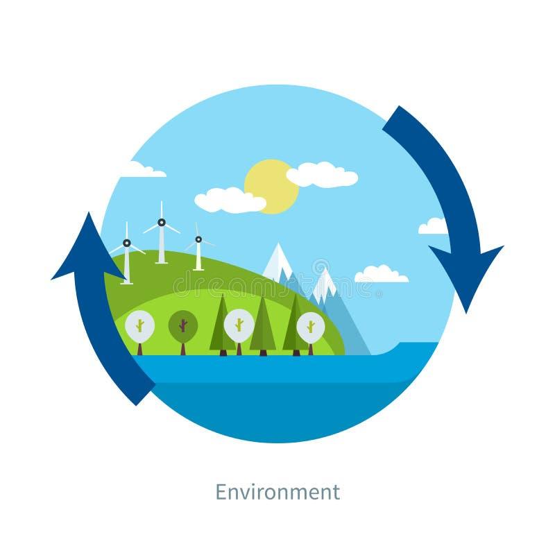 Concept groene energie stock illustratie