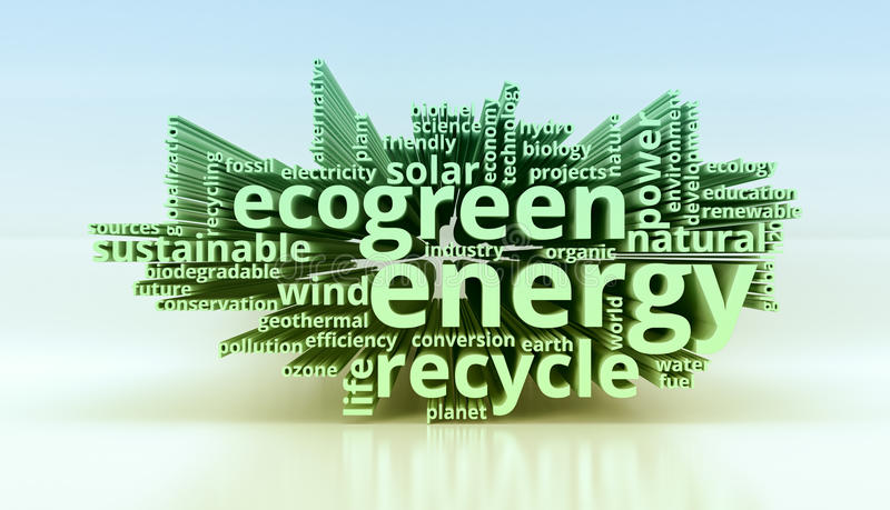 Concept groene energie royalty-vrije illustratie