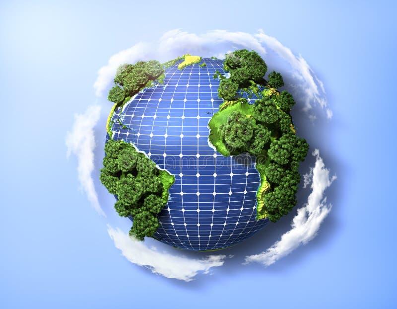 Concept groene zonne-energie vector illustratie