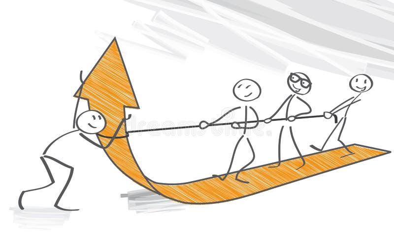 Concept groepswerk royalty-vrije illustratie