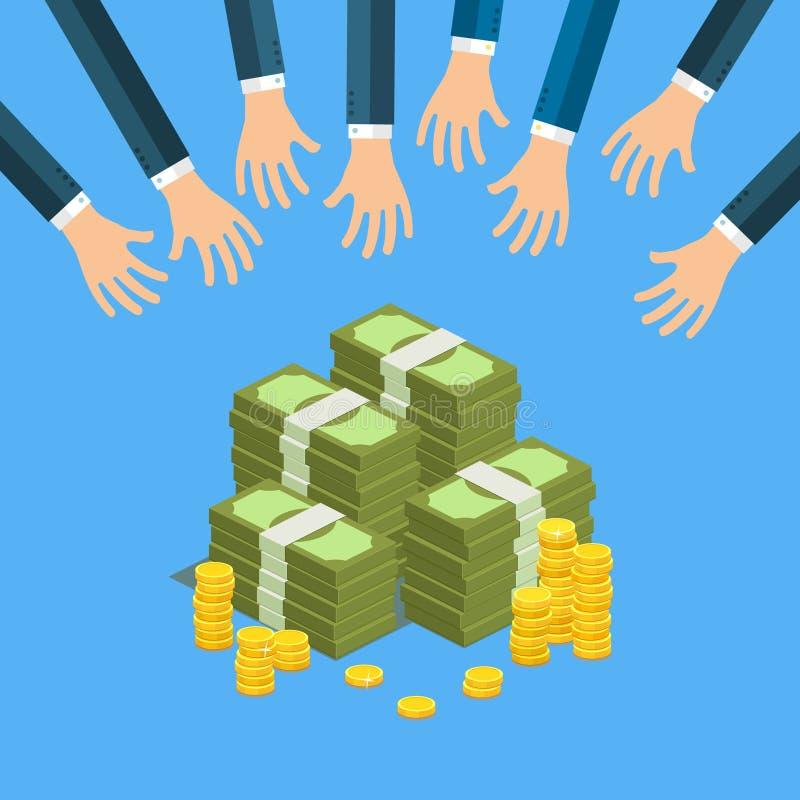Concept groot geld royalty-vrije illustratie