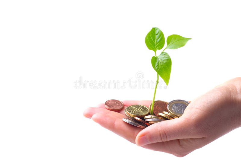 Concept for growth of business stock image