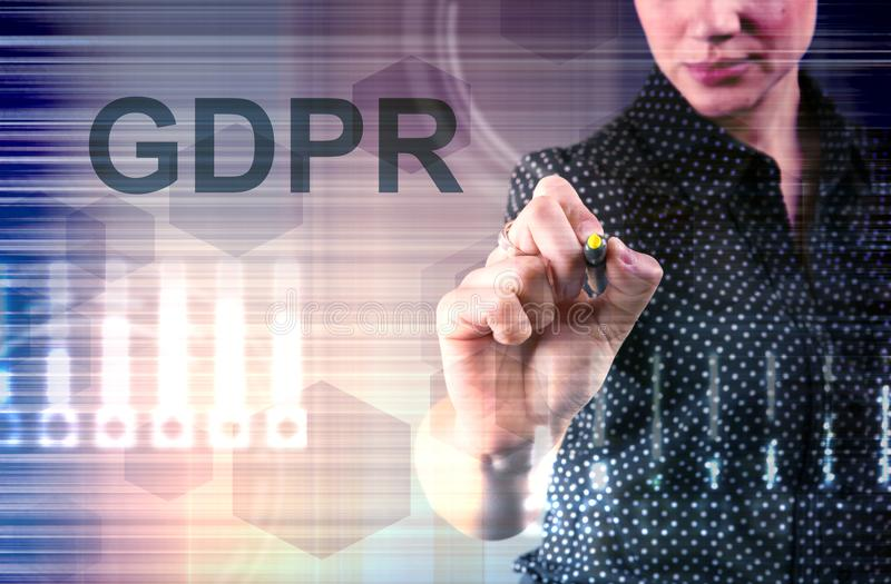 Concept of GRPR - general data protection regulation royalty free stock images