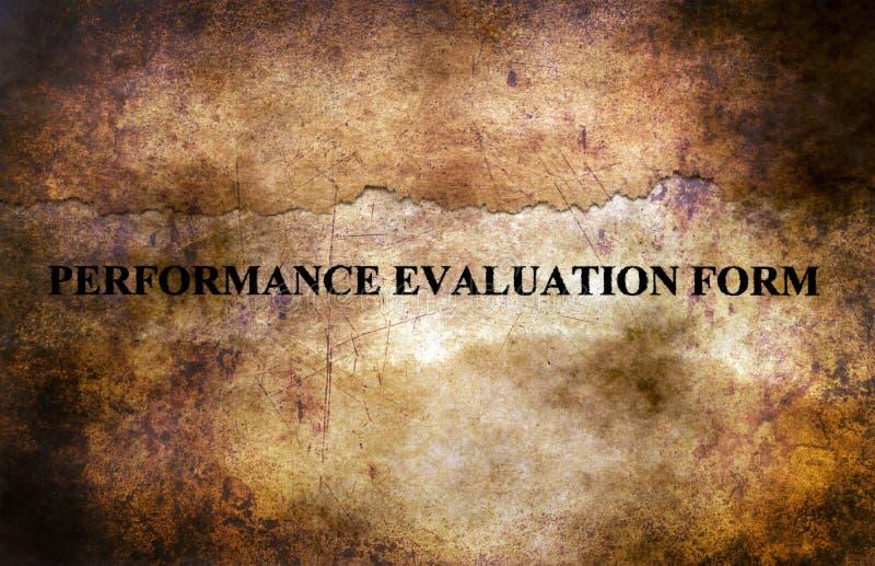 Concept grunge de forme d'évaluation des performances photo stock