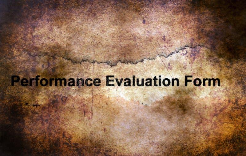 Concept grunge de forme d'évaluation des performances photos stock