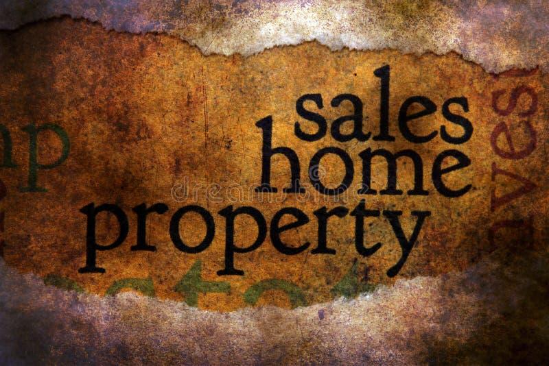 Concept grunge de propriété à la maison de ventes illustration libre de droits