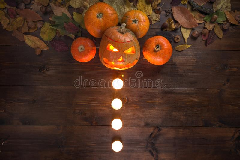 The concept of Halloween autumn still life royalty free stock photography