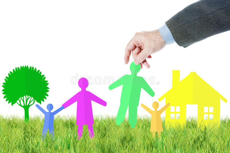 Concept of happy family life stock image