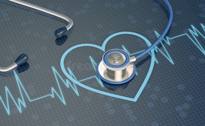 Concept hartgezondheid vector illustratie