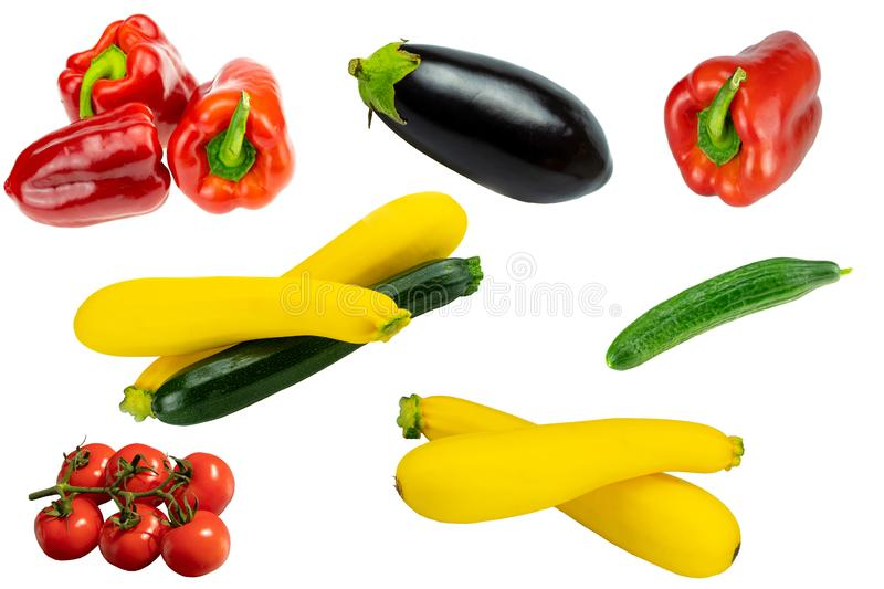 Concept healthy. Collection of fresh raw healthy vegetables isolated on a white background. Healthy food. royalty free stock photography
