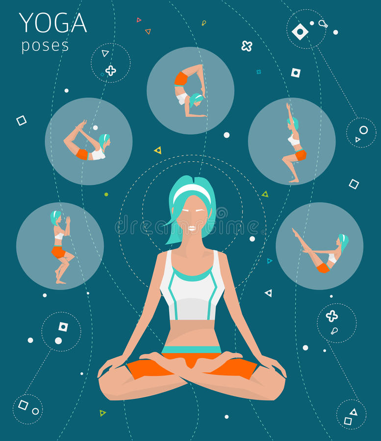 concept healthy lifestyle иллюстрация вектора