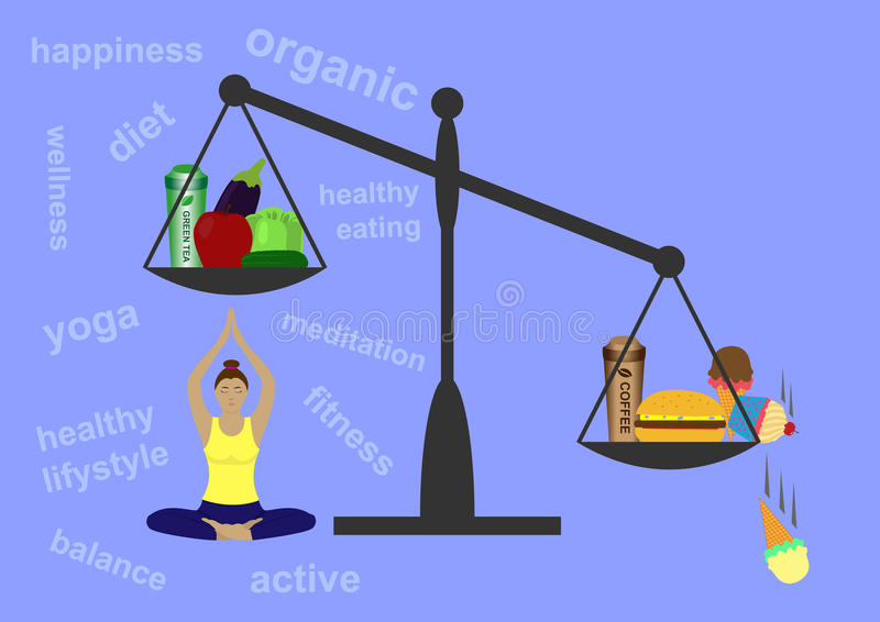 Concept of healthy lifestyle royalty free stock photography