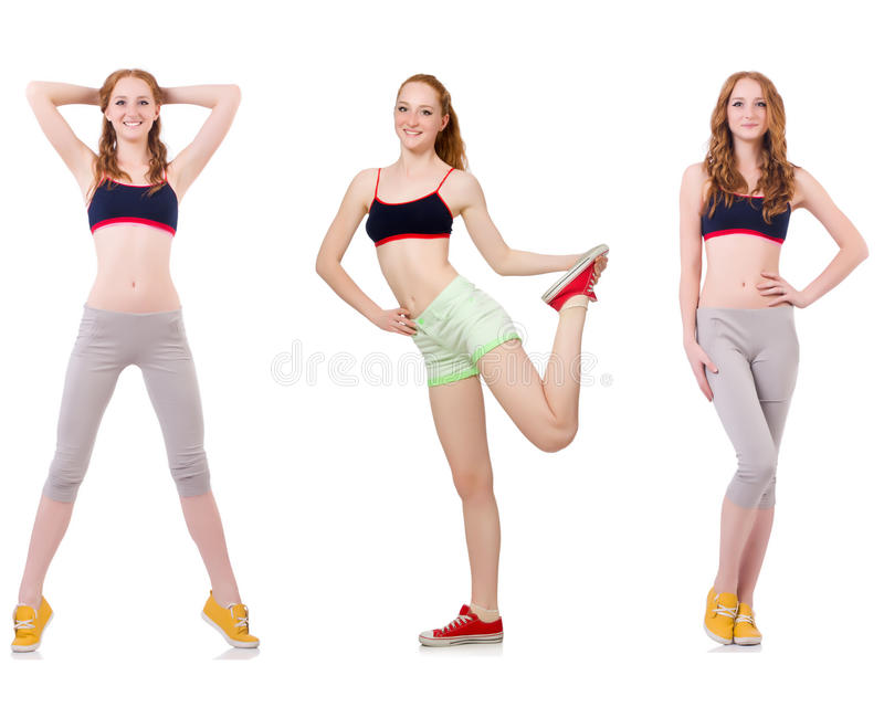 Concept of healthy lifestyle in set. The concept of healthy lifestyle in set royalty free stock images