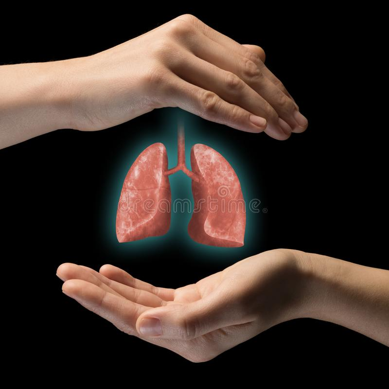 The concept of a healthy lungs royalty free stock image