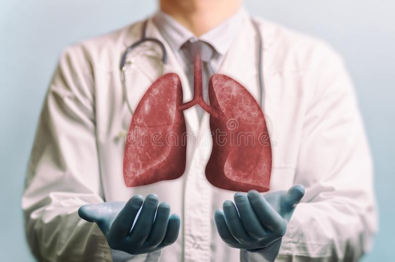 Concept of healthy lungs. stock images