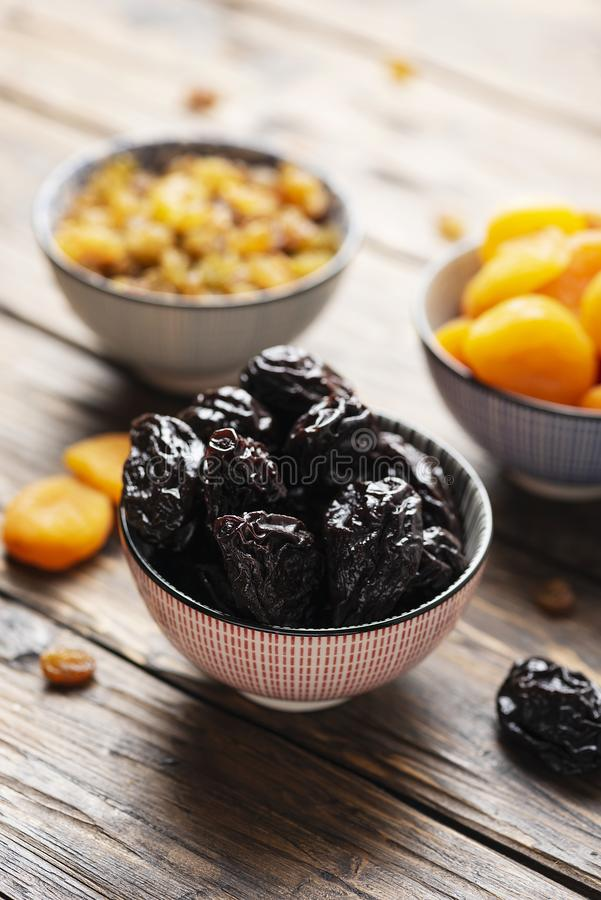 Concept of healthy meal with dried fruits royalty free stock photos