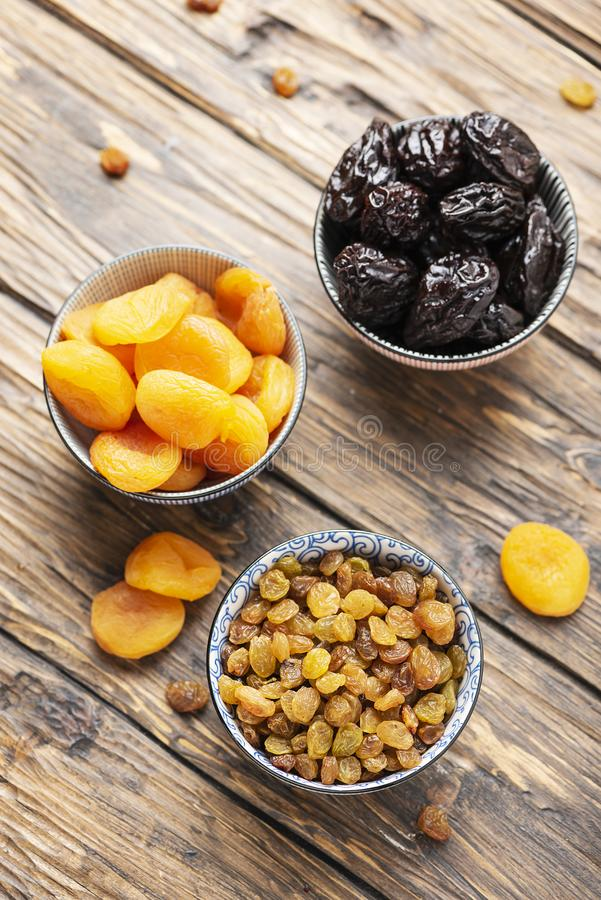 Concept of healthy meal with dried fruits royalty free stock image