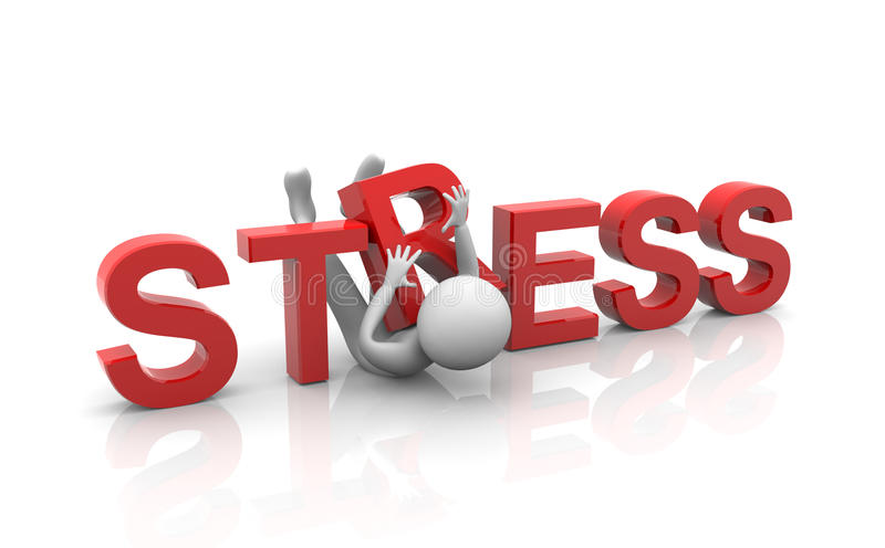 Concept of heavy stress royalty free illustration