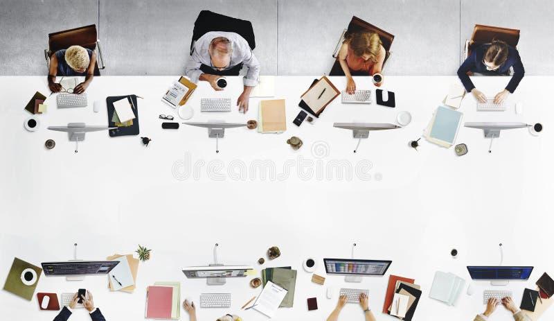 Concept het bedrijfs van Team Meeting Connection Digital Technology royalty-vrije stock afbeeldingen