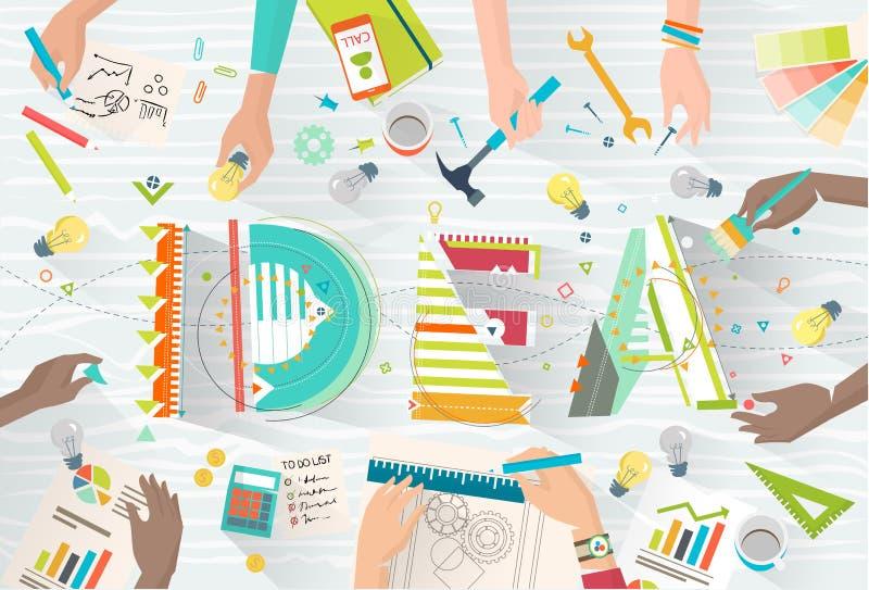 Concept het coworking stock illustratie