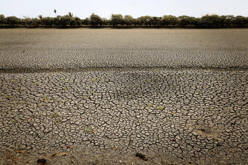 Concept het globale verwarmen, heet en droog klimaat, veranderingsklimaat, land voor eeuwigdurende gewassen royalty-vrije illustratie