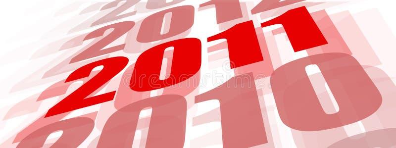 Concept het jaar van 2011 royalty-vrije illustratie