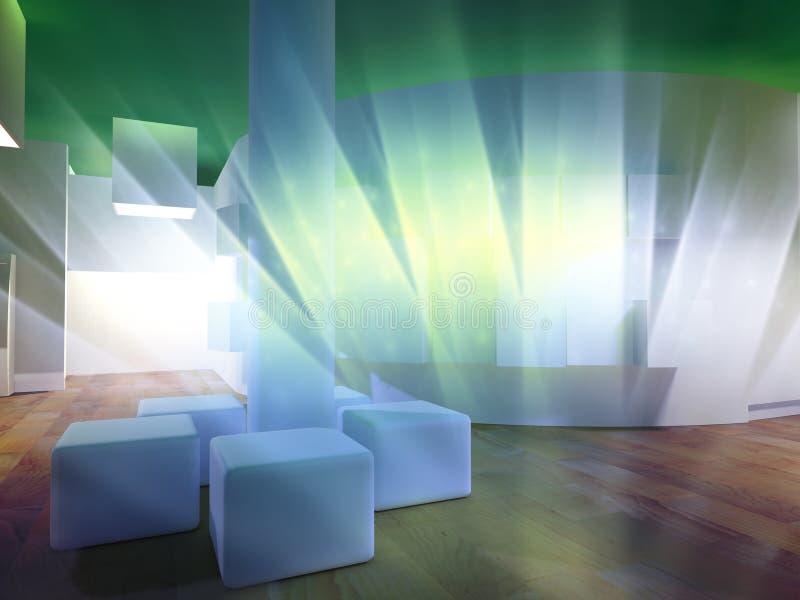 Concept het moderne ziekenhuis, samenvatting vector illustratie