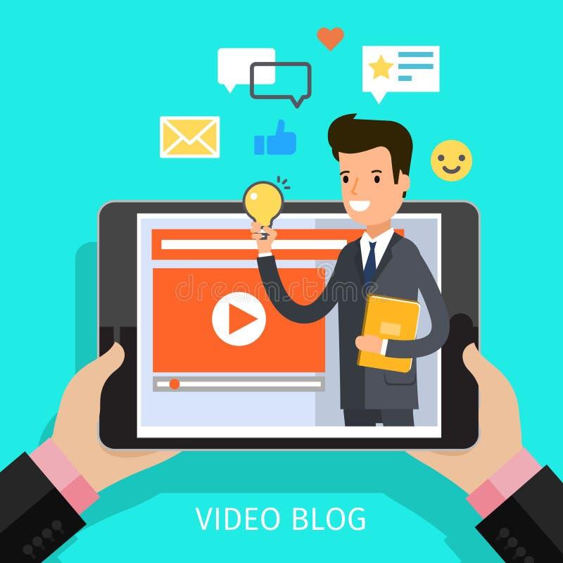 concept het video blogging vector illustratie