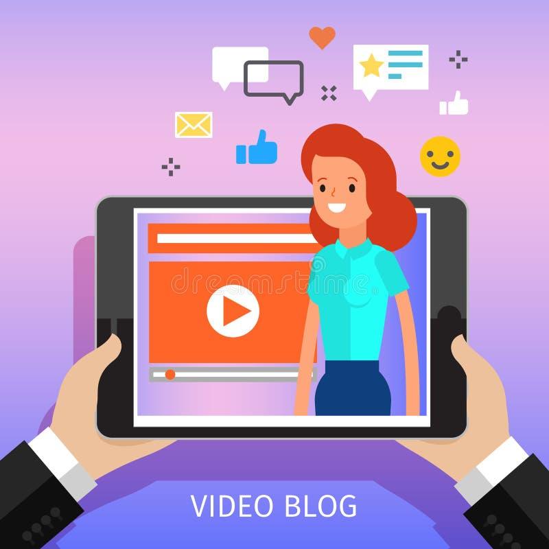 concept het video blogging royalty-vrije illustratie