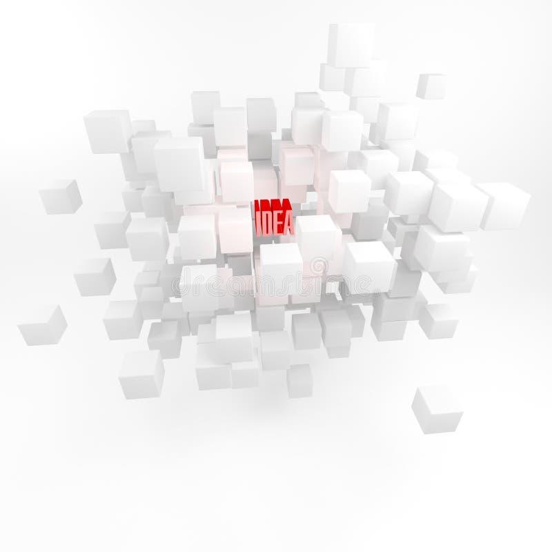 Concept het zoeken naar ideeën. Inspiration.3D geven terug. vector illustratie
