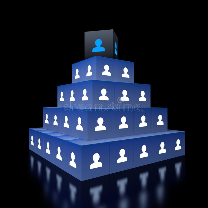 Concept hiërarchie royalty-vrije illustratie