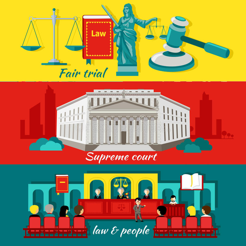 Concept High Court and Justice. Fair trial, law and people, justice and judgment,litigation and jurisdiction, courthouse and legislation, prosecution and stock illustration