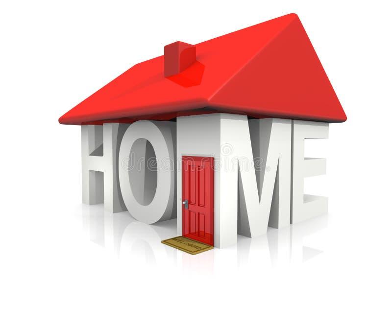 Concept Home stock illustration
