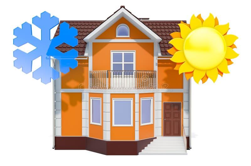 Concept Home Climate Control, rendu 3D illustration stock