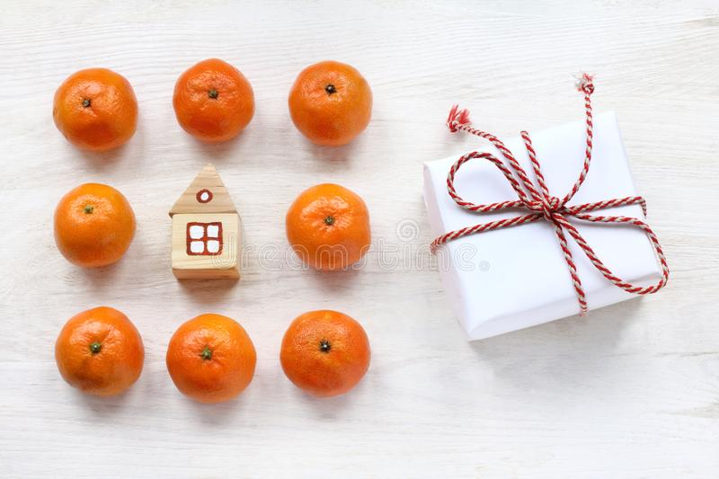 Concept home holiday atmosphere stock image