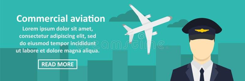 Concept horizontal de bannière commerciale d'aviation illustration stock