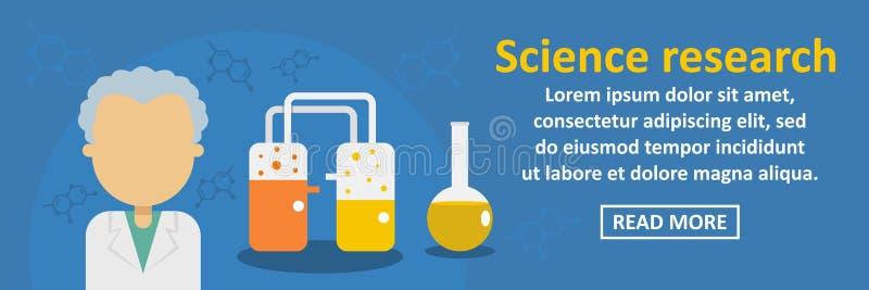 Concept horizontal de bannière de recherches de la Science illustration libre de droits