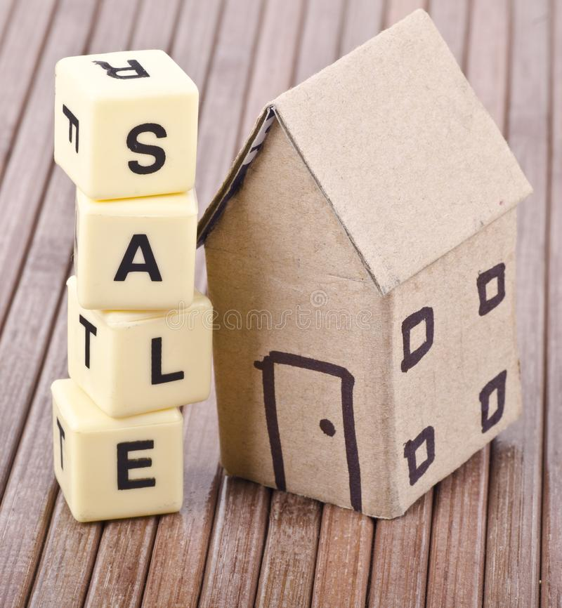 Concept house sale word. Concept, house sale word written with Blocks for finance and sales stock photo