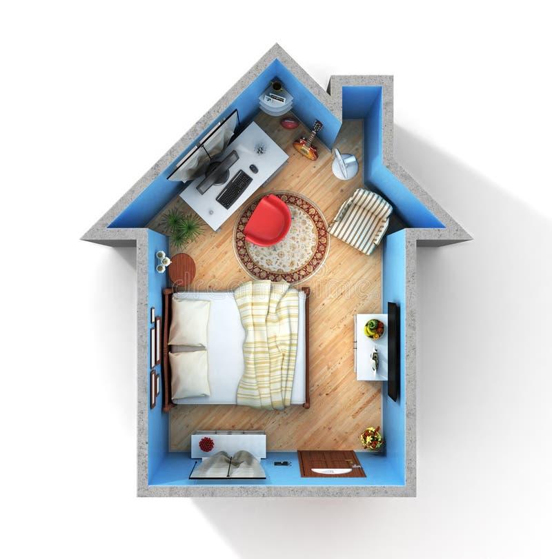 Concept huis royalty-vrije illustratie